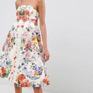 ASOS design bandeau floral midi